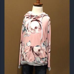 Other - Girls pink floral sweatshirt